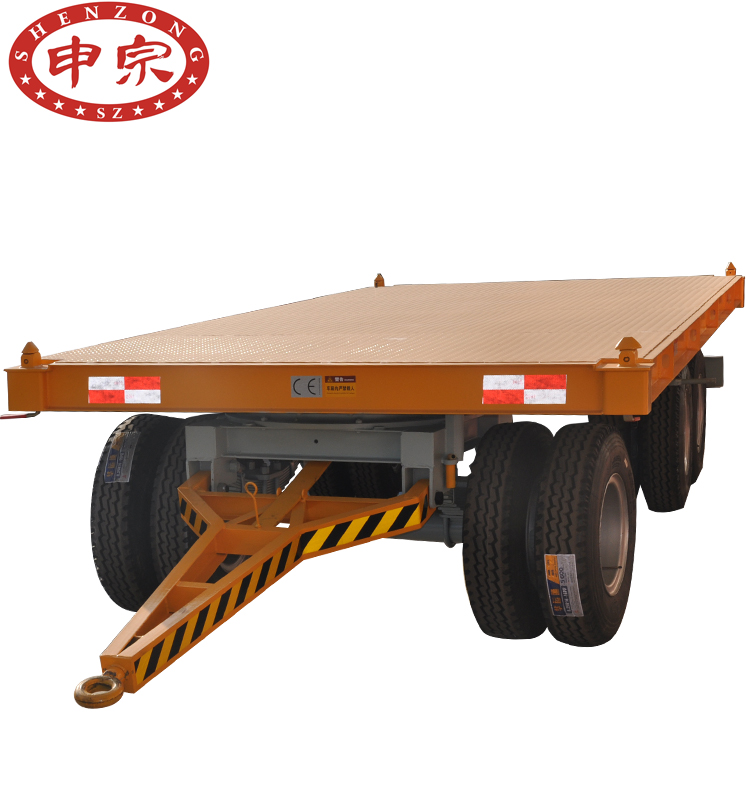 3 <strong>Axle</strong> 12 <strong>Wheel</strong> Flatbed Container truck Full Trailer