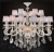 Warm and romantic bedroom lamp modern minimalist circular chandeliers Alice