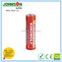 r6 battery 1.5v aa r6 sum3 carbon zinc battery dry cell battery