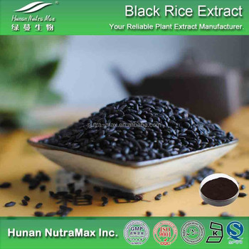 100% Natural Black Rice Extract, Anthocyanins 5%-25%