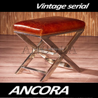 Antique stainless steel foot stool