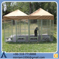 high quality Double Dog Kennel / Outdoor Large Dog House for Two