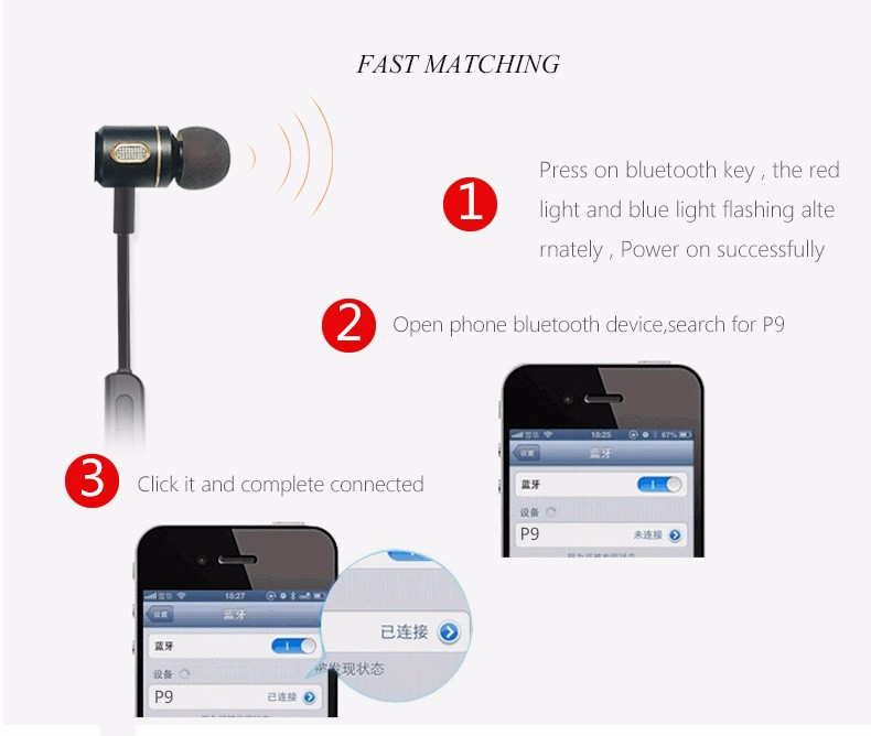 S651 Made In China promotional Headset, Sample Free Sports Bluetooth Headset With mp3 player