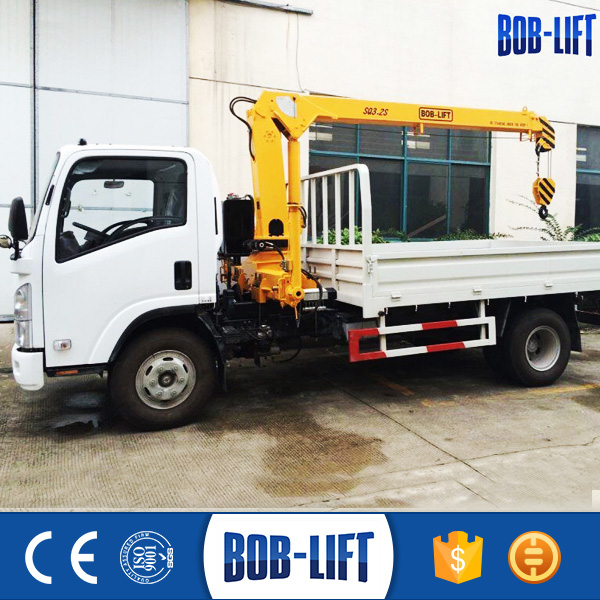 Manufacturer Telescopic Boom Light Cargo Truck Mounted Crane