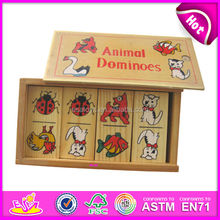 2015 New wooden custom dominoes for kids,wooden toy Popular domino for children,cute wooden domino set for baby WJ278285