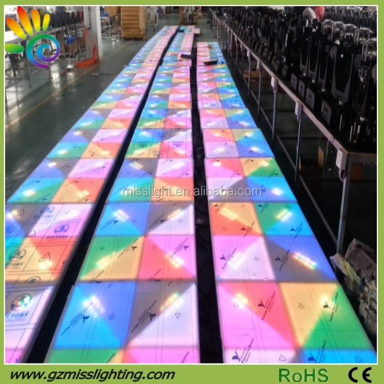 professional Music DMX control portable acrylic used led dance floor for sale