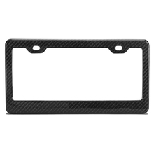 Top quality custom 3K glossy/matt carbon fiber car license plate frame with 2 holes/4 holes
