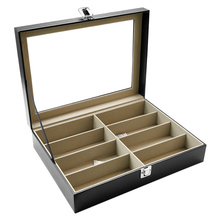 High quality real glass top sunglass display case/spectacle case/glasses box