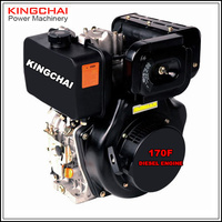 KINGCHAI Power 9 hp air cooled diesel engine 186f single cylinder 4-stroke small engine for 5KW diesel generator use