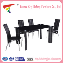 Beautiful Hot Sale tempered glass long narrow dining table