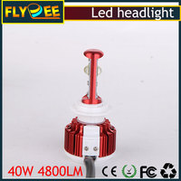12v 48v 4800 lumen V16 80w red color ip68 H4 h7 auto CREEs CAR led headlight bulb