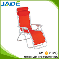 OEM folding zero gravity chair patio sling chair,reclining garden chair outdoor wholesale in Europe