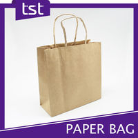 Printed Brown Kraft Paper Bags For Grocery