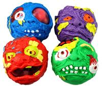 Dead Head Squishy Ball with Disgusting Things Inside Novelty Toys for Kids Children Party Favors Adults Autism ADHD