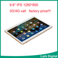 3G 4G Lte Tablet PC 9.6 inch IPS MTK6580
