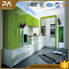 high gloss 2 pac coating kitchen cabinet with push to open hinges