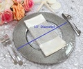PZ20070 Wholesale wedding event gold glass charger plates