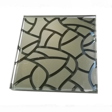 Heat Proof Ceramic frit Glass with laminating PVB SGP EVA, laminated glass with ceramic frit