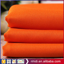 Gots SGS certified tc hi-vis orange workwear fabric poly cotton twill