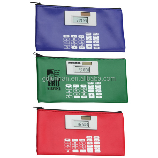 PVC leather pouch calculator bag