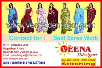 contact for any types of saree work