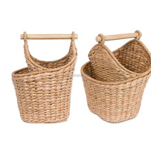 Natural color handmade round Seagrass Basket for storage bathroom paper towels