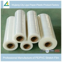 Tension self-adhesive rolled pallet packaging transparent plastic film