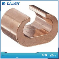 High quality DALIER CCT-76 C Type Copper Cable To rod connecting clamp