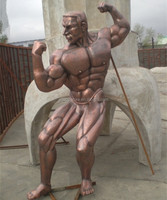 nude muscle man male statues