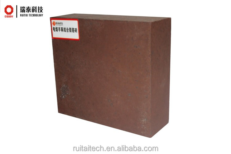High quality wholesaler furnace using fused magnesia-chrome semi combined refractory bricks