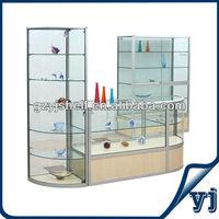 Beautiful Living Room Glass Showcase Design