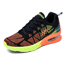 Unisex Knit Mesh Colorful <strong>Air</strong> Running Sports Shoes Sneakers For Men Women Breathable Gym Walking Shoe Quanzhou Fujian Wholesale