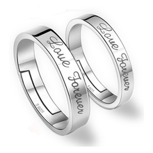 taidian brand lovers ring distinctive customized 925 sterling silver wedding diy ring men's ring