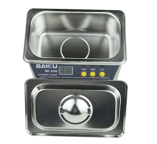 BAKU hot sale BK-3550 mini multifunctional LCD Digital display Ultrasonic Cleaner cleaning machine for electronic industry