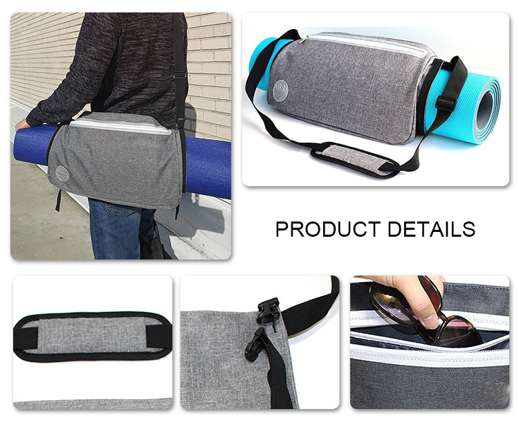 Eco friendly easy to carry yoga straps bag with tablet