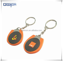 rubber keychain ring, logo embossed pvc keychain