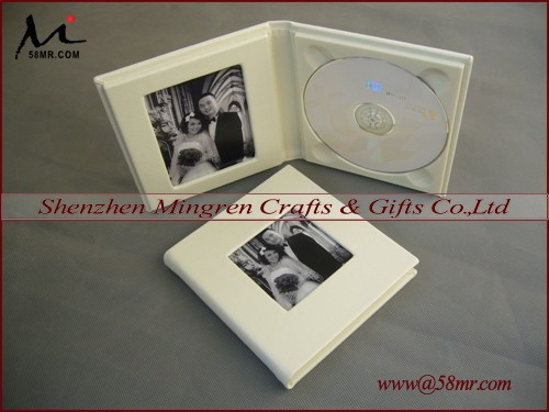 Wholesale Ivory Elegent Wedding Leather CD DVD Case Holder