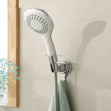 Adjustable Shower Head Suction Cup Mount Holder with Hook Hanger
