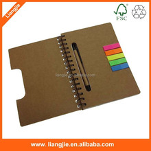 Wholesale recycled cover writing pad with ball pen and pet index