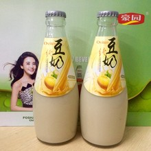 wholesale low prices OEM brand soy milk drink in glass bottle