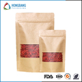 Laminated material food grade brown paper bag with zipper