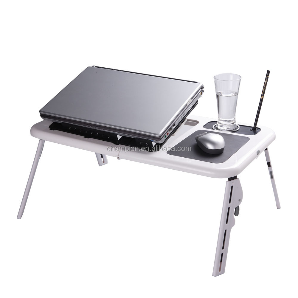 Elegant laptop cooler pad table with two powerful fans
