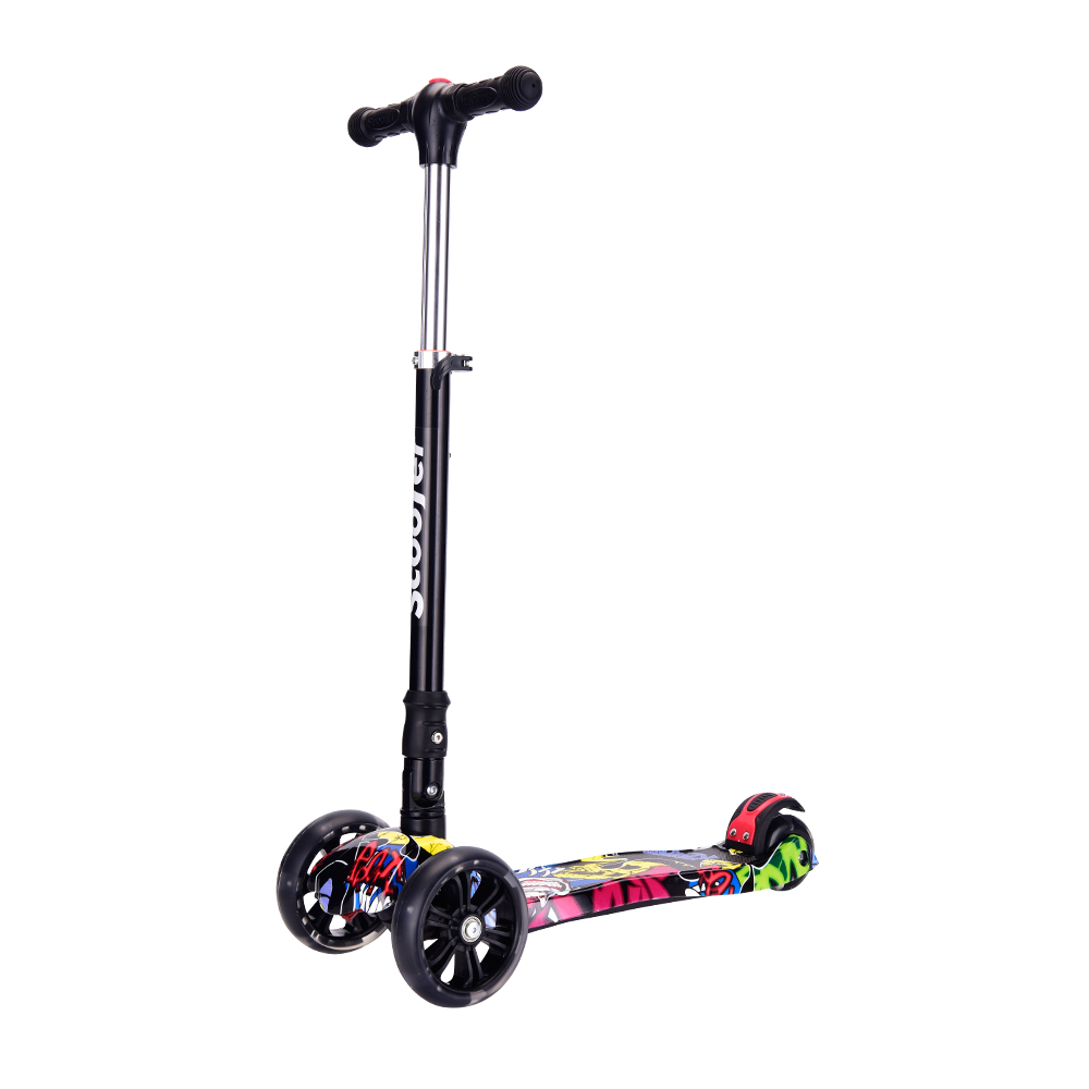 New children foldable kick scooter with adjustable height