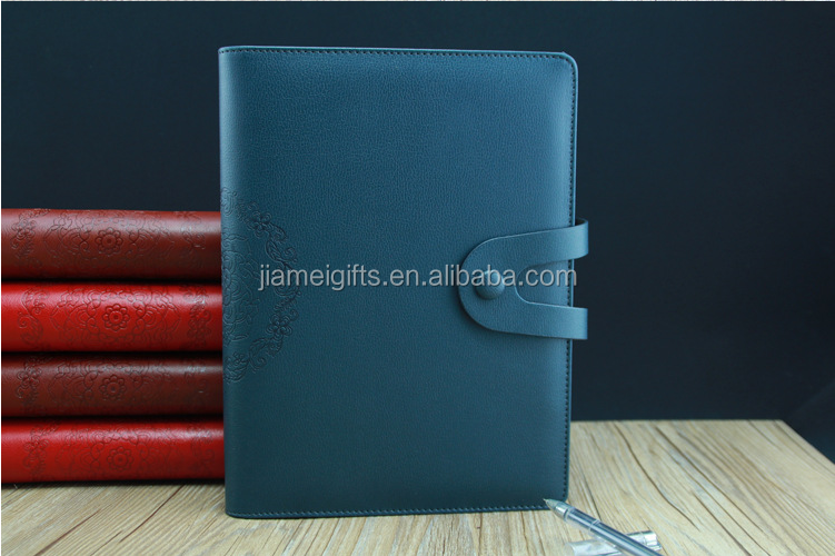 Popular fabric cover a5 notebook with usb,OEM production custom notebook with clasp,logo custom usb notebook manufacturer