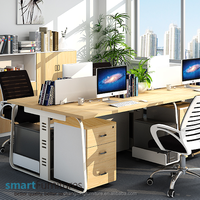 Four person office partition office workstation employee table office furniture table designs