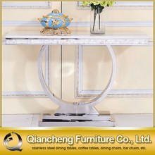 Italian style luxury hotel white marble console table