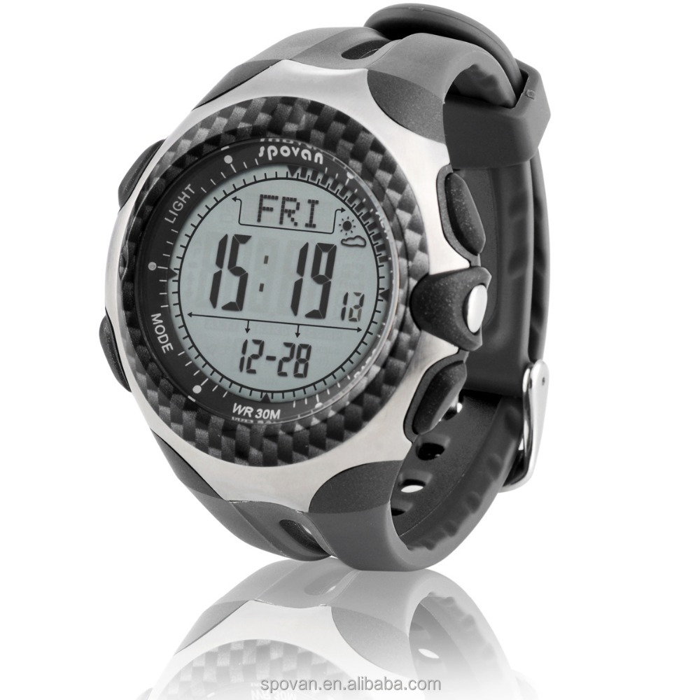 Spovan climbing professional digital altimeter watch with compass, barometer, weather forecast watch