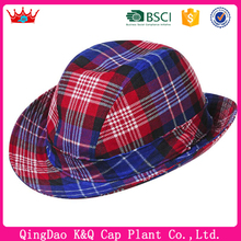 For Sale Fashionable Colorful Plaid Scottish Fedora Hat