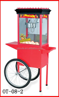 CE Professional New Condition Factory Price Popcorn Making Machine Popcorn Vending Cart (Black Top) (8 OZ)(OT-08-02)