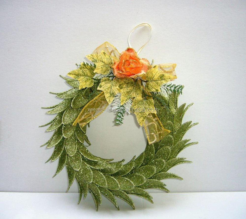 Artificial Flower Christmas Wreath Indoor Christmas